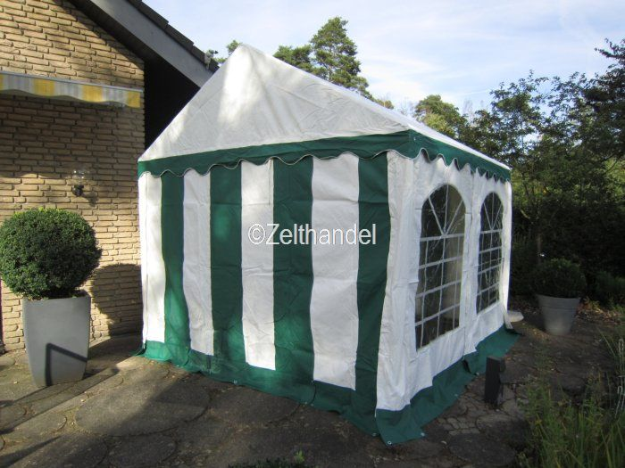 partyzelt pavillon zelt 3x4 m gr n weiss pvc ebay. Black Bedroom Furniture Sets. Home Design Ideas