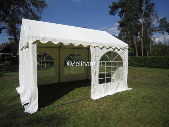 partyzelt pavillon zelt 3x4 m pvc weiss neu ebay. Black Bedroom Furniture Sets. Home Design Ideas