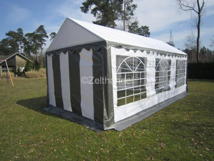 party tent gazebo tent pe 3x6 m 6x3m grey white new. Black Bedroom Furniture Sets. Home Design Ideas