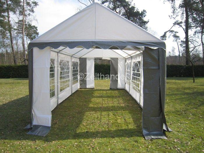 partyzelt pavillon zelt pe 3x6 m 6x3m grau weiss neu ebay. Black Bedroom Furniture Sets. Home Design Ideas