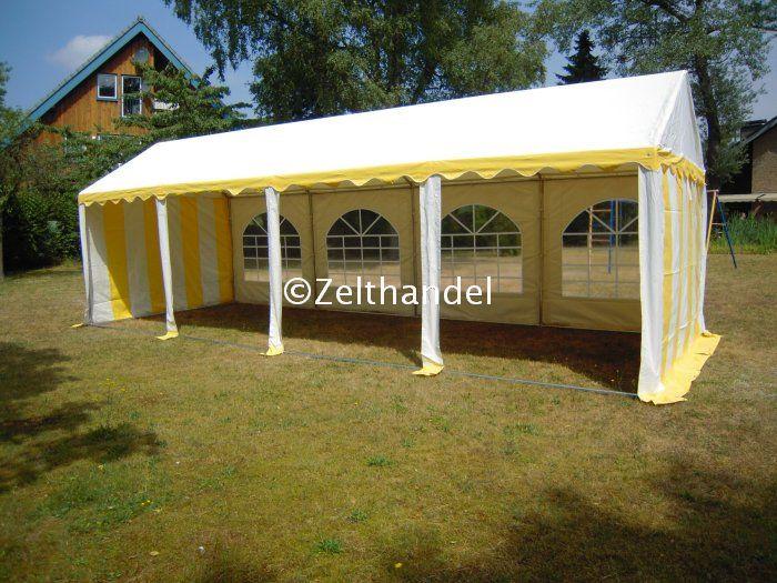kombizelt partyzelt zelt 3x8 und 3x6 pvc gelb neu. Black Bedroom Furniture Sets. Home Design Ideas