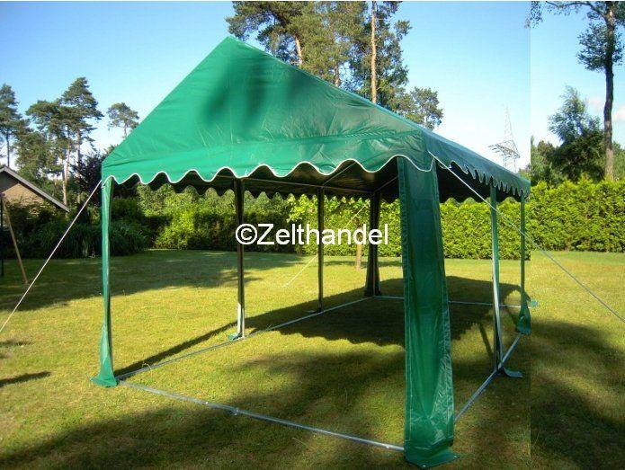 partyzelt pavillon zelt 3 x 4 m gr n pvc ebay. Black Bedroom Furniture Sets. Home Design Ideas
