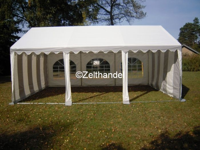 partyzelt festzelt pavillon zelt 3x6 m pvc grau weiss ebay. Black Bedroom Furniture Sets. Home Design Ideas