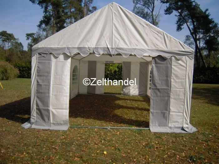 partyzelt festzelt pavillon zelt 3x6 m grau weiss pvc ebay. Black Bedroom Furniture Sets. Home Design Ideas