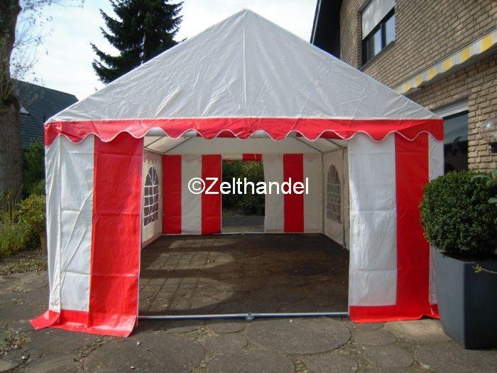partyzelt festzelt pavillon zelt 3x6 m pvc rot wei wasserdicht ebay. Black Bedroom Furniture Sets. Home Design Ideas