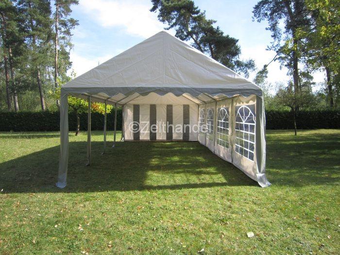 3x6 4x8m partyzelt gartenzelt pavillon zelt grau wei pvc wasserdicht ebay. Black Bedroom Furniture Sets. Home Design Ideas