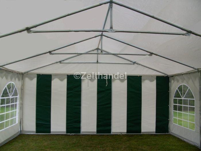 partyzelt festzelt pavillon zelt 3x6 m pvc gr n weiss ebay. Black Bedroom Furniture Sets. Home Design Ideas