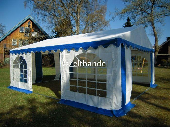 partyzelt festzelt pavillon zelt 3x6 m pvc blau weiss ebay. Black Bedroom Furniture Sets. Home Design Ideas