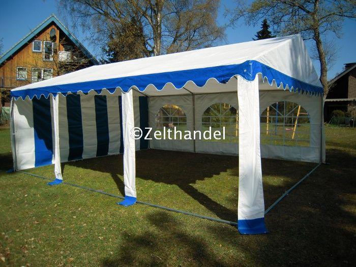 partyzelt festzelt pavillon zelt 3x6 m pvc blau weiss. Black Bedroom Furniture Sets. Home Design Ideas