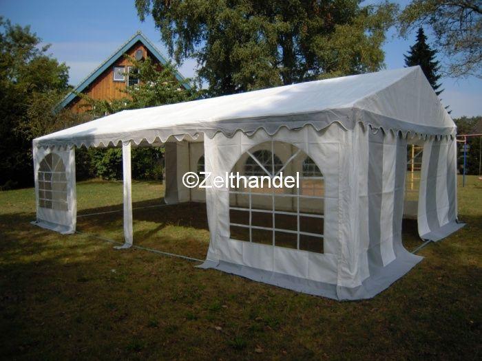 partyzelt bierzelt pavillon zelt 3x9 m pvc grau weiss neu. Black Bedroom Furniture Sets. Home Design Ideas