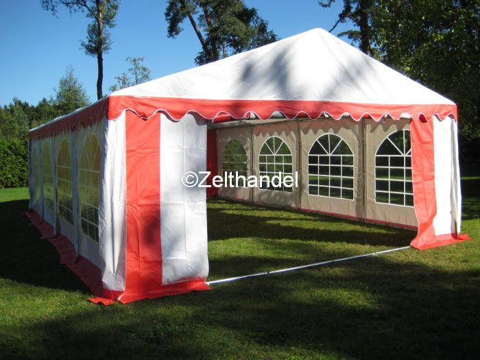 partyzelt festzelt pavillon zelt 6x8 m rot wei pvc wasserdicht ebay. Black Bedroom Furniture Sets. Home Design Ideas