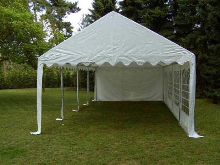 3x6 4x8m partyzelt gartenzelt pavillon zelt wei pvc. Black Bedroom Furniture Sets. Home Design Ideas