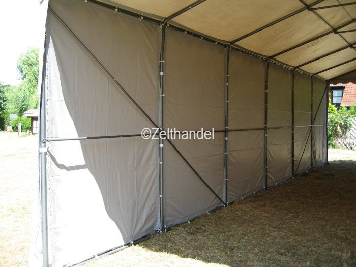 lagerzelt carport partyzelt lagerhalle zelt 6x12 m grau pvc ebay. Black Bedroom Furniture Sets. Home Design Ideas