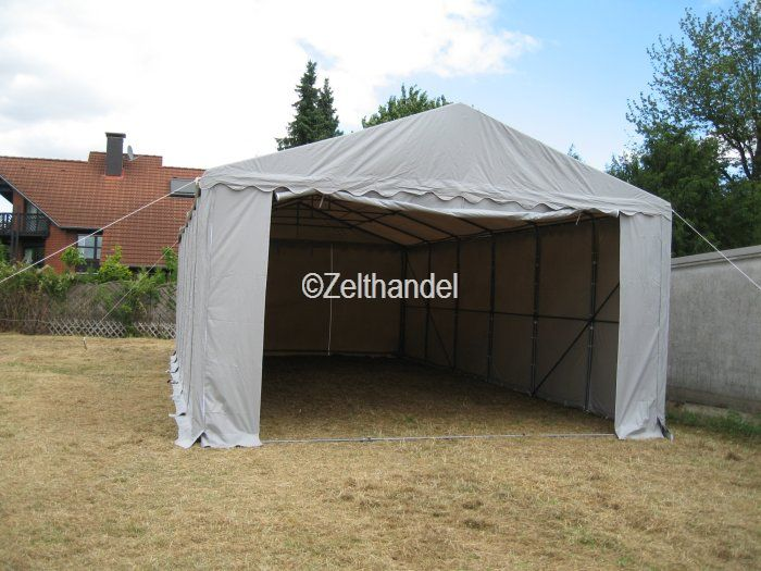 lagerzelt carport partyzelt zelt 6x12 m grau pvc ebay. Black Bedroom Furniture Sets. Home Design Ideas