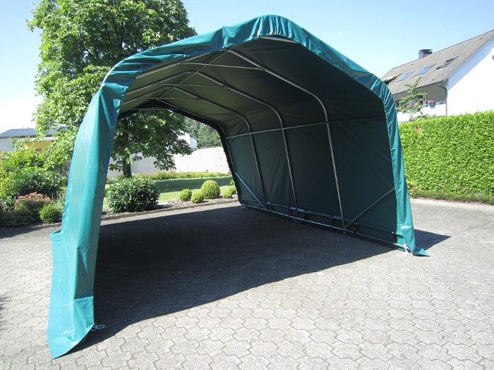 weidezelt lagerzelt carport 3 65 m x 4 80 m pvc gr n neu ebay. Black Bedroom Furniture Sets. Home Design Ideas