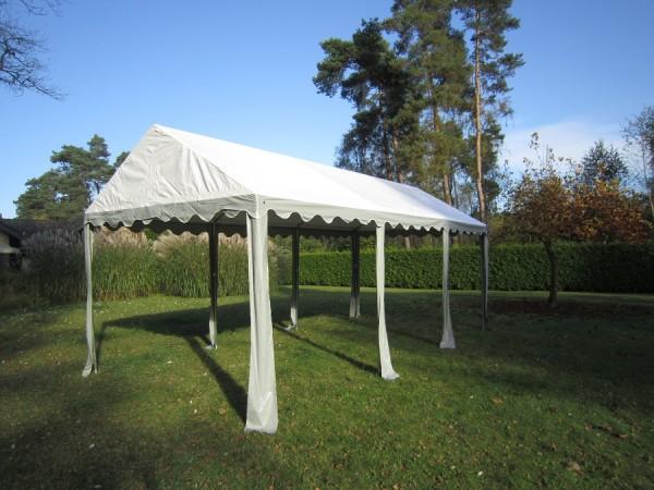 Zeltdach 4x6m, PVC grau-weiß