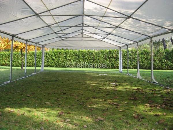 Zeltdach 6x12m, PVC weiß