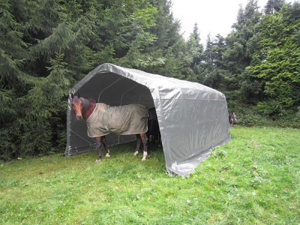 Weidezelt 3,65 x 6m wetterfest für Pferde