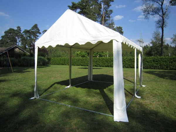 Zelt-Dach 4x4m PVC weiß