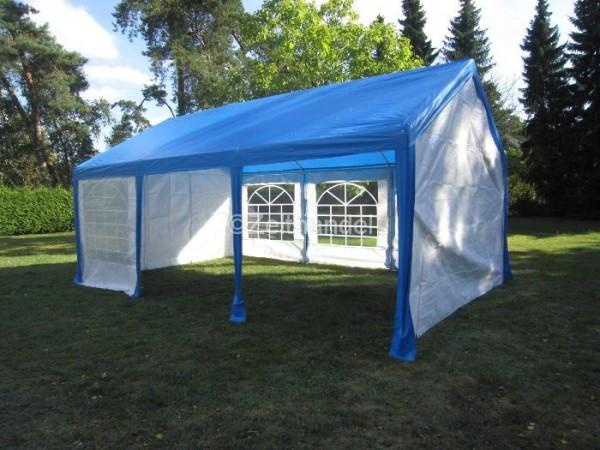 Gartenzelt 3x6, PE Dach blau