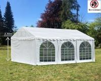Partyzelt 5x6m PVC weiß mit Seitenhöhe 2,30m