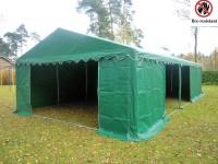 Lagerzelt 5x10 grün feuerfest, PVC, Bodenrahmen u.Dachverstärkung