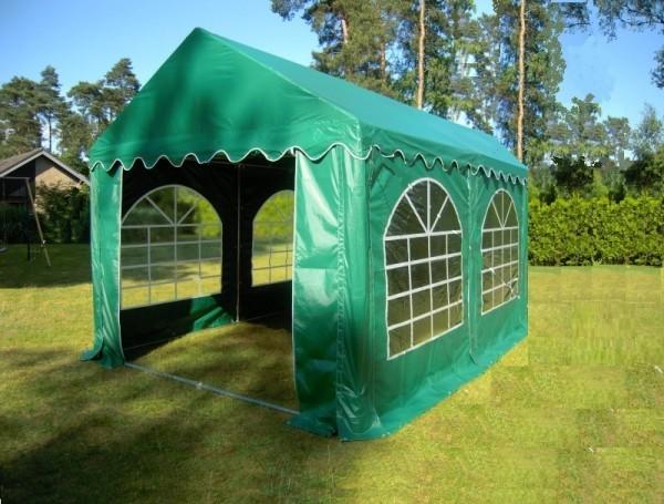 Gartenzelt 4x4m PVC grün