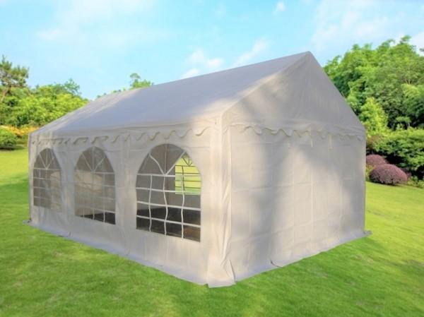 3x6m Partyzelt weiß mit Dachverstärkung und Bodenrahmen