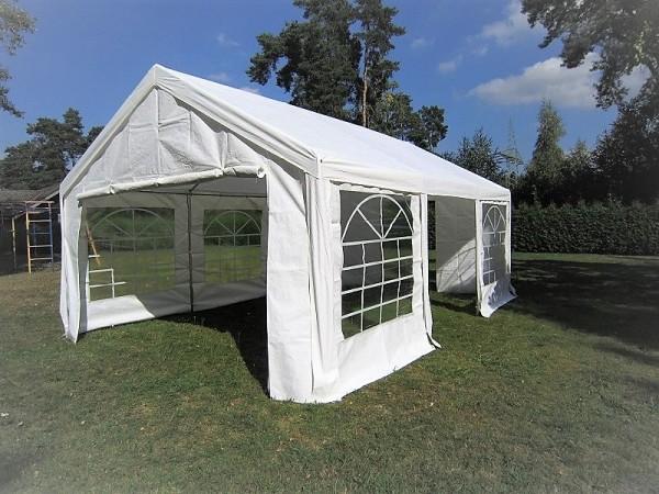 Gartenzelt 3x6m weiß PE 240g/m²