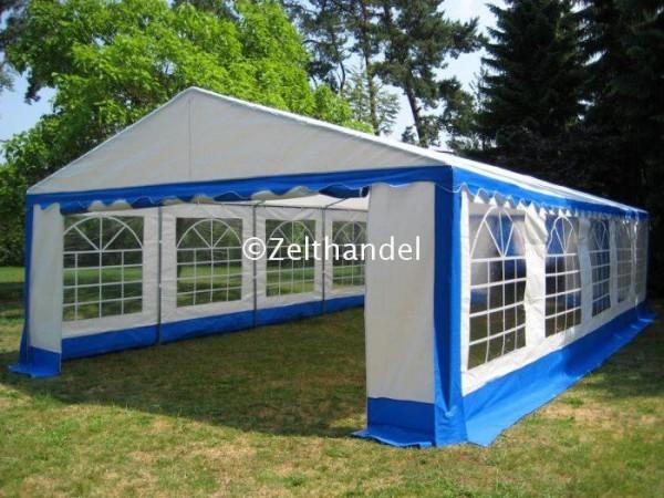 5x10m Partyzelt, PE blau-weiß