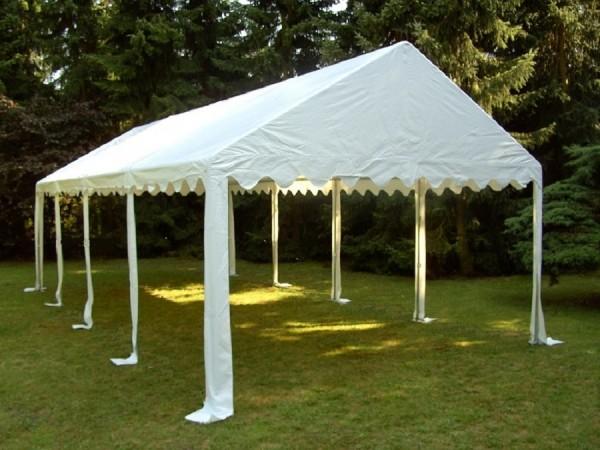 Zeltdach 4x8m, PVC weiß