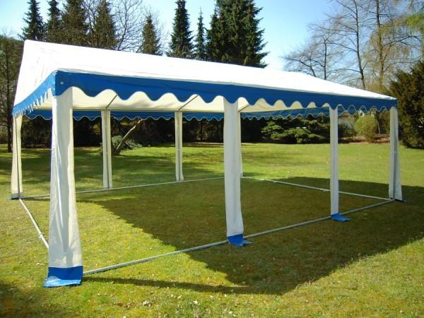 Dachplane 3x6m blau-weiß Partyzelt PVC