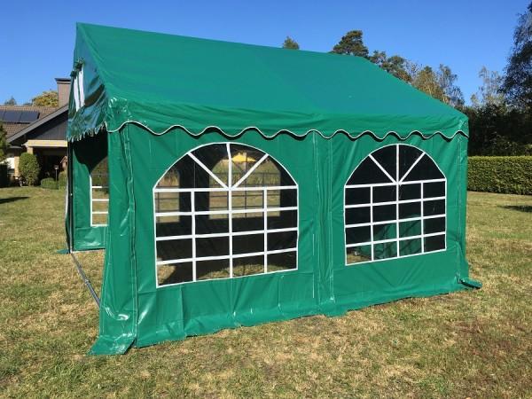 Kleines Zelt Gartenzelt 4x4m grün PVC wasserdicht