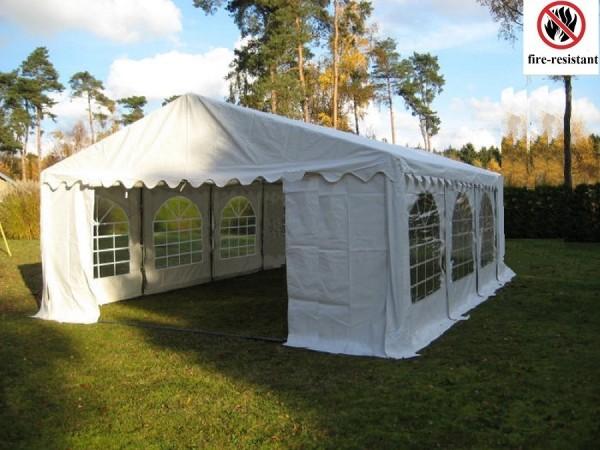 6x6m Partyzelt feuerfest PVC weiß