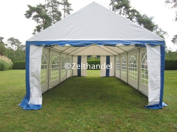 Partyzelt 4x8 m blau-weiß