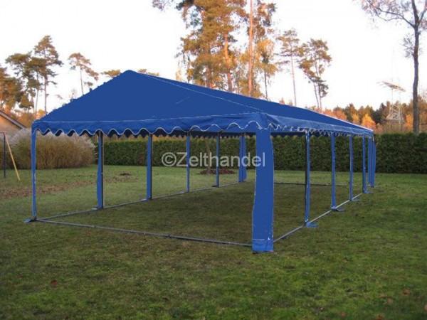 Zelt-Dach 4x8m, PVC blau