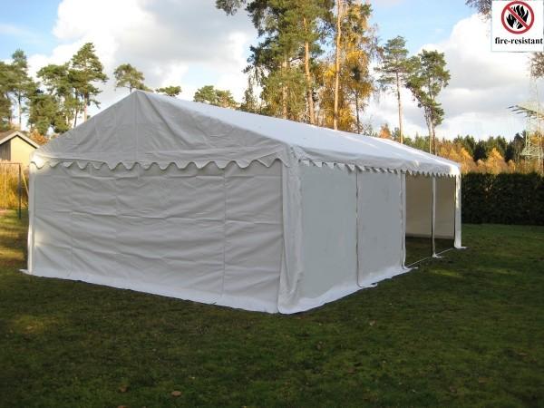 Lagerzelt - Schutzzelt weiß 6x8m PVC