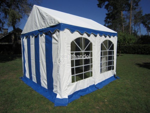partyzelt 3x3m blau online kaufen. Black Bedroom Furniture Sets. Home Design Ideas