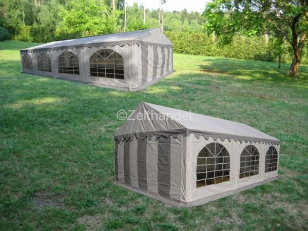Kombizelt 4x8/4x6 grau-weiß mit 2 Dachplanen
