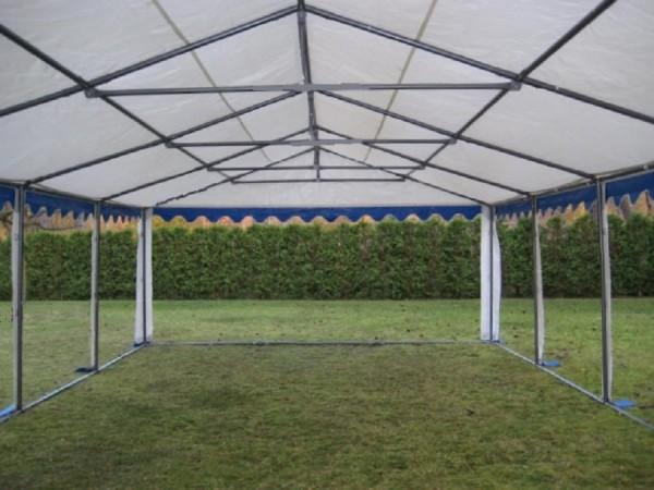 Zeltdach für Partyzelt 6x12m blau-weiß 500g PVC