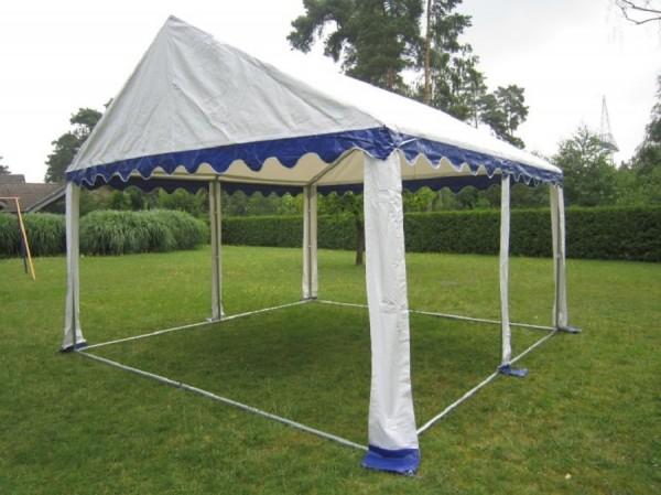 Dachplane 4x4m blau-weiß für Partyzelt PVC