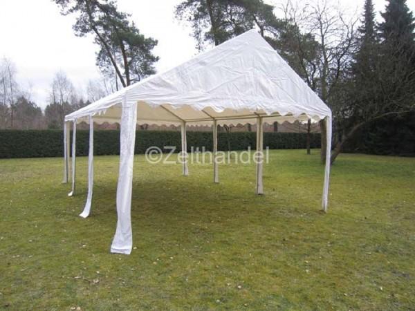 Zeltdach 4x6m, PVC weiß