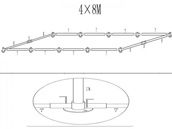 Grundrohrrahmen 4x8