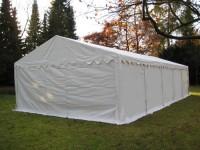 Lagerzelt Unterstand 5x10m PVC weiß wetterfest