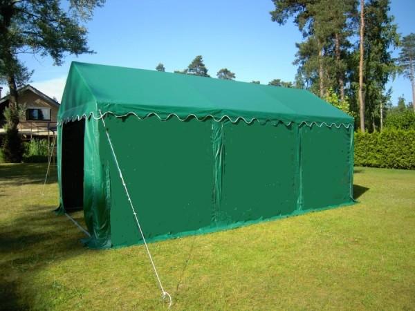kleines 4x6m Lagerzelt wasserdicht grün PVC