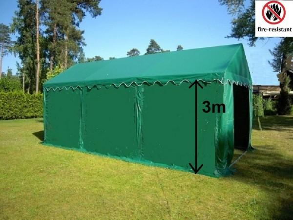 3x6m Lagerzelt grün feuerfeste PVC Zeltplane
