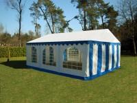 Partyzelt Gartenzelt 5x6m PVC blau