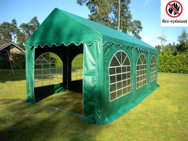 Feuerfestes Partyzelt 3x6m grün