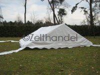 Zeltdach 6x6, PVC weiß