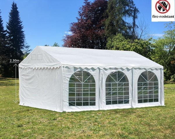 Partyzelt PVC weiß 4x6m Gigant Pro Seitenhöhe 2,30m